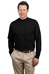 Port & Company - Mock Turtleneck, PC61M, Black, 2XL