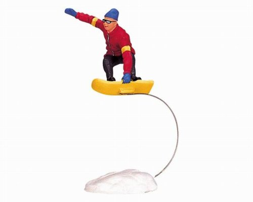 Lemax Vail Village Collection Snowboarding Fun Figurine #32770 эргорюкзак boba carrier vail