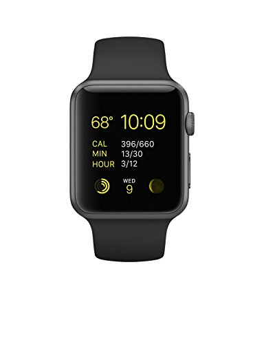 Apple Watch Sport Space Grey Aluminium Case Black Sport Band 42mm Image