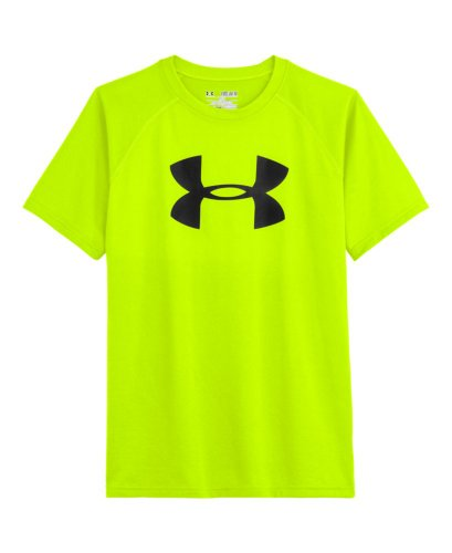 Under Armour Big Boys' Ua Big Logo T-Shirt Youth Small High-Vis Yellow front-911168