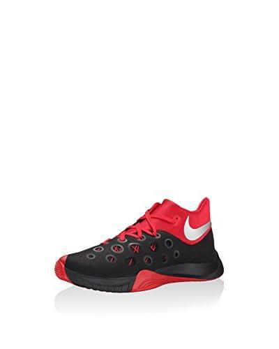 Nike Sneaker Alta Nike Zoom Hyperquickness 2015 [Nero/Rosso/Argentato]