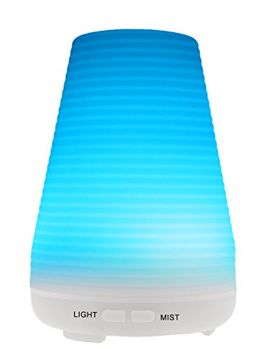 MOKOQI Aromatherapy Oil Diffuser 100ML Ultrasonic Cool Mist Air Humidifier Filter Free with Color Changing LED Light - Waterless Auto off - BPA Free for Home Office House Yoga Spa Bedroom Babyroom (Kettle Swiss compare prices)