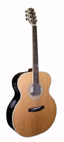 Boulder Creek Guitars Esj4-N Acoustic-Electric Guitar, Natural Finish