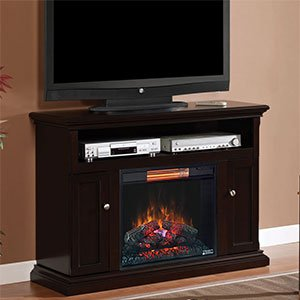 Classicflame Cannes Infrared Electric Fireplace Media Cabinet In Espresso - 23Mm378-E451