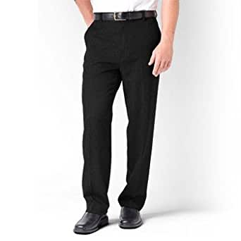 Levi's Big Men's Plain Front Dress Action Slacks - BLACK