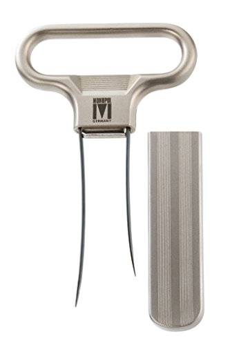 Monopol Westmark Germany Steel Two-Prong Cork Puller with Cover (Silver Satin) (Wine Bottle Opener Prongs compare prices)