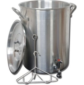 King Kooker 30 Quart Aluminum Turkey Pot Package with Spigot