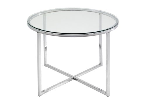 ABC Home, Scandinavian Style - Tavolino da lampada cromato, colore: Argento