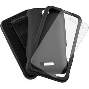 MyBat 3-In-1 Combo Case and Holster for ZTE Score M X500M/X500 - Non-Retail Packaging - Black