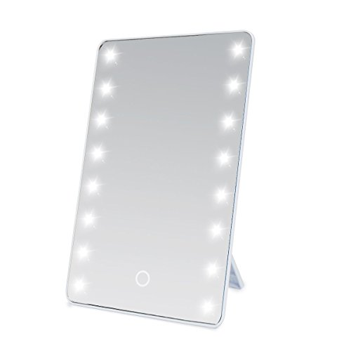 sumnacon led lighted vanity mirror battery operated cordless cosmetic makeup mirror table. Black Bedroom Furniture Sets. Home Design Ideas