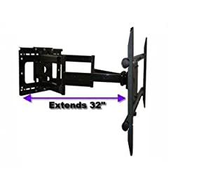 "BRAND NEW HEAVY DUTY Dual-Arm Articulating Tilt/Swivel LED/LCD/PLASMA Wall Mount 37""-58"" **Extends 32 Inches**"