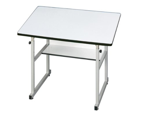 Alvin Home Office Art Drawing Crafting Drafting Hobby Center MiniMaster Table Gray Base with White Top