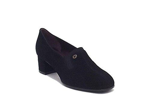 Donna Serena scarpa donna, 4535, scarpa accollata in camoscio, colore nero