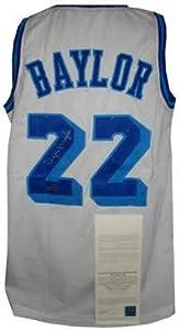 Elgin Baylor signed Los Angeles Lakers White TB Prostyle Jersey- Upper Deck Hologram