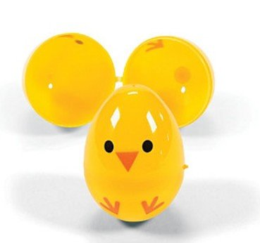 Easter Egg Chicks- Plastic Containers for Party Favors and Easter Egg Hunts (72 Pieces) from FE
