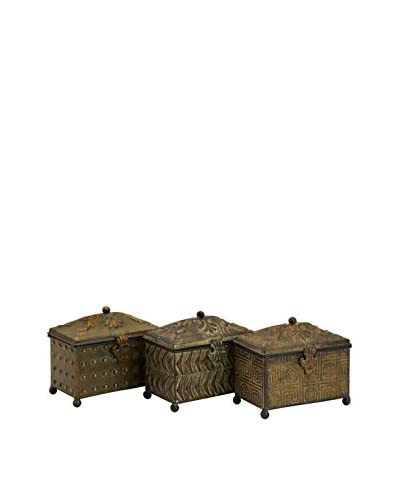 Set Of 3 Morrow Assorted Boxes, Brown