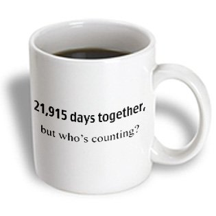 mug_112219 EvaDane - Happy Anniversary - 21,915 days together, who's counting - Mugs