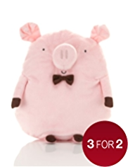Hot Water Bottle with Squeaky Pig Shaped Cover