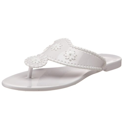 Jack Rogers Women's Bahamas Jelly Flip Flop,White/White,8 M US