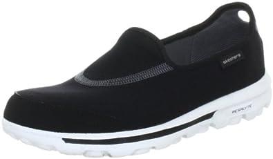 Skechers Women's Go Walk Slip-On,Black/White,5 M US
