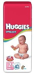 HUGGIES SNUG/DRY STEP 2 55502 , JUMBO FITS 12-18LBS