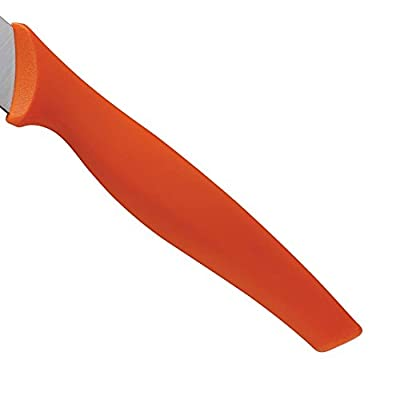 Premium Rachael Ray Orange Japanese 8 Inch Stainless Steel Chef Knife with Plastic Sheath