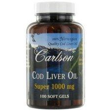 Carlson Super 1000Mg Cod Liver Oil, 100 Softgels