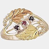Beautiful! Sterling-Silver & Gold Black Hills Gold Mothers/Family Rings 2-6 Stones