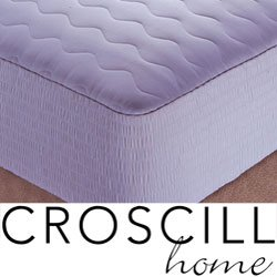 Croscill Cotton Sateen Stripe Mattress Pad, 300 Thread Count Size, Cal King (C398Os)