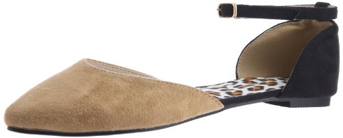 Done by None Women's Beige Suede Fashion Sandals (beige\/sand\/tan)