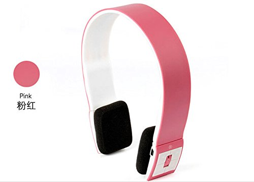 Mescoo® Wireless Headphone & Bluetooth Headset With Mic For Iphone Ipad Smart Phone Tablet Pc Stereo Audio (Pink)