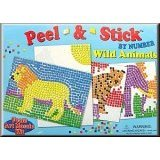 31amrhuiatL. SL160  Lauri Toys Peel and Stick by Numbers Wild Animals