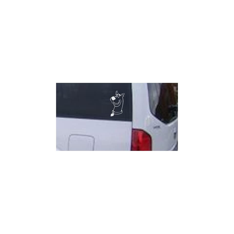 4.7in X 8.5in White    Scooby Doo Cartoons Car Window Wall Laptop Decal Sticker