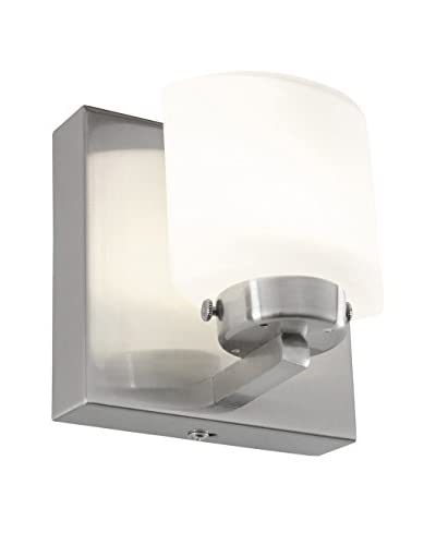 Alternating Current Clean 1-Light LED Bath, Satin Nickel