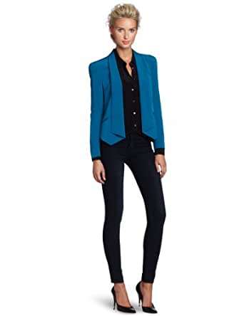 Rebecca Minkoff Women's Becky Jacket, Teal, X-Small