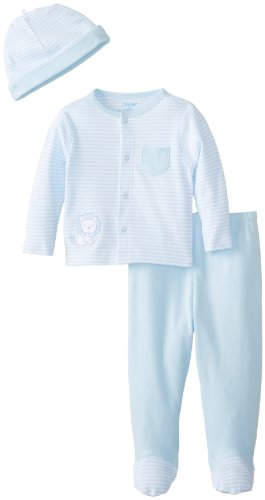 Little Me Baby-Boys Newborn Lullaby Tmh Pant Set, White/Light Blue, 6 Months front-895186
