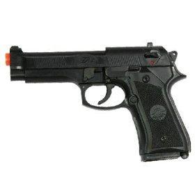 Spring Loaded Full Metal Gear Pistol Airsoft Gun.