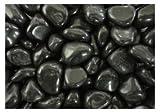 【ノーブランド品】玉砂利 中国産 新黒光石 磨きタイプ (8分=22-28mm)