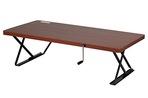 Halter Manual Adjustable Height Table Top Sit / Stand Desk (Cherry) (Motorized Couch compare prices)
