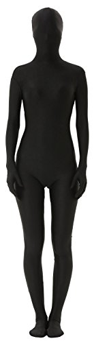 Marvoll Unisex Lycra Spandex Full Body Zentai Suit for Kids and Adults (Medium, Black)