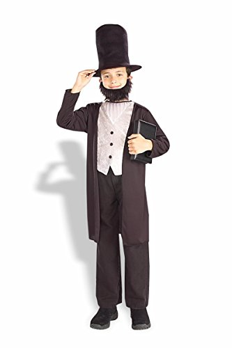 Child's Abraham Lincoln Costume Size Medium (8-10)