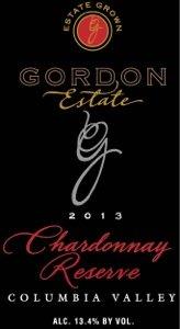 2013 Gordon Estate Columbia Valley Reserve Chardonnay750 Ml