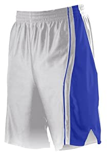 Buy Alleson 547P Adult Dazzle Basketball Shorts WH RO - WHITE ROYAL AS