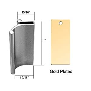 Bright Gold Tub Enclosure and Sliding Shower Door Pull Handle