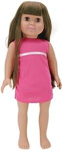 Fiber Craft Springfield Collection Pre-Stuffed Doll, 18-Inch, Emma/Brunette Hair/Brown Eyes