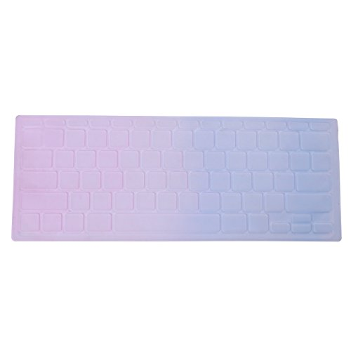 "Hde Ultra Thin Silicone Keyboard Skin For Apple Macbook Air 11"" (Pink/Blue)"