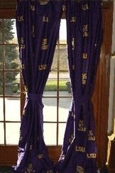 "LSU Printed Curtain Panels 42"" X 84"" - LSU Fighting Tigers at Amazon.com"