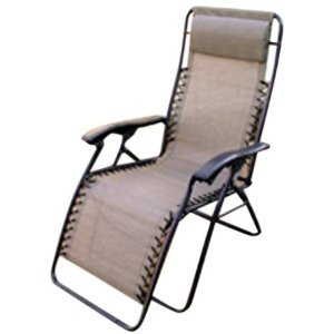 folding reclining camping lawn patio lounge chair golden harvest