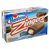 Hostess Zingers Iced Devils Food Cake with Creamy Filling, 17oz