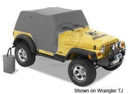 Bestop All Weather Trailcover Full Door Coverage Charcoal 1976-1991 Jeep Wrangler YJ & CJ7 # 81035-09